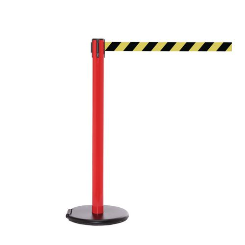 Rollersafety 250 Red Post 3.4M Yell/Black Diagonal Belt