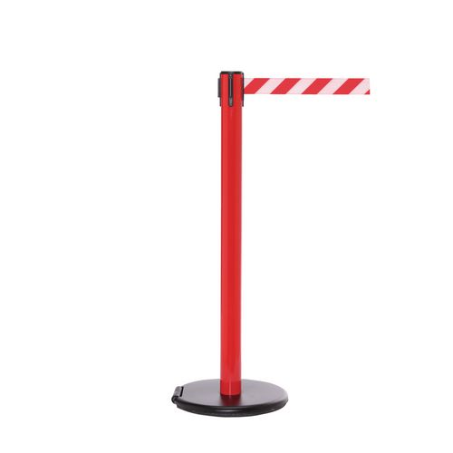 Rollersafety 250 Red Post 3.4M Red/White Diagonal Belt