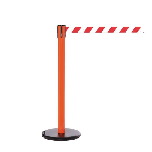 Rollersafety 250 Orange Post 3.4M Red/White Diagonal Belt