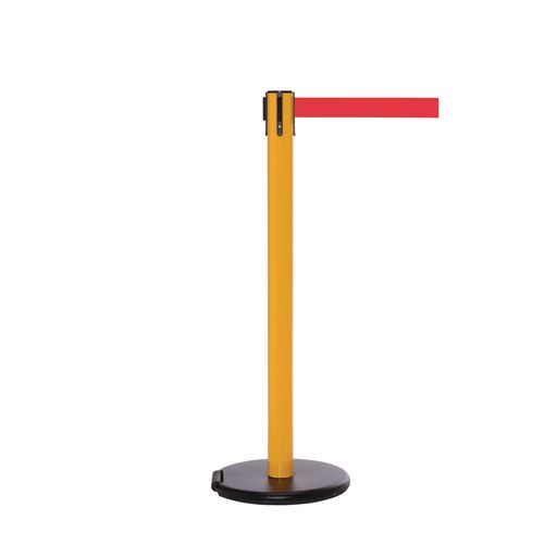 Rollersafety 250 Yellow Post 3.4M Red Belt