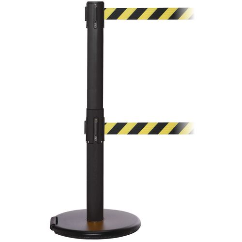 Rollersafety 250 Twin Black Post 3.4M Yell/Black Diagonal Belt