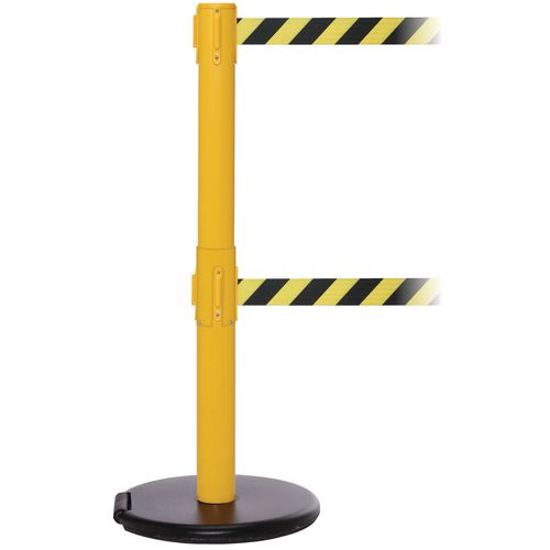 Rollersafety 250 Twin Yellow Post 3.4M Yell/Black Diagonal Belt