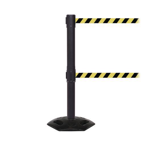 Weathermaster 250 Twin Black Post 3.4M Yell/Black Diagonal Belt Web