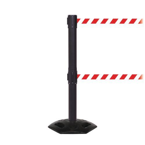 Weathermaster 250 Twin Black Post 3.4M Red/White Diagonal Belt Web
