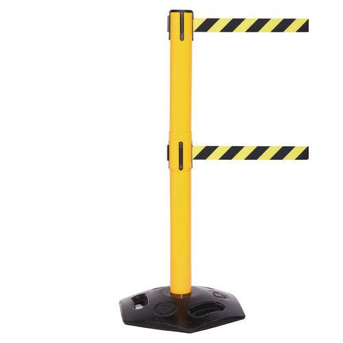 Weathermaster 250 Twin Yellow Post 3.4M Yell/Black Diagonal Belt Web