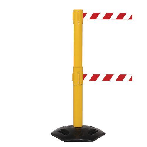 Weathermaster 250 Twin Yellow Post 3.4M Red/White Diagonal Belt Web