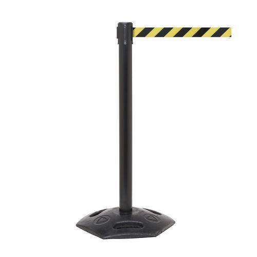 Weathermaster 300 Black Post 4.9M Yell/Black Diagonal Belt Web