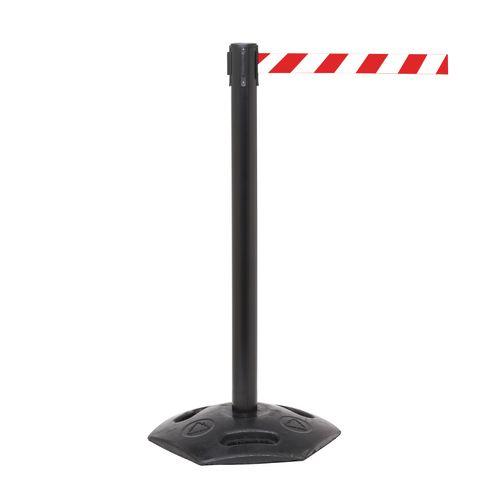 Weathermaster 300 Black 4.9M Red/White Diagonal Belt Web