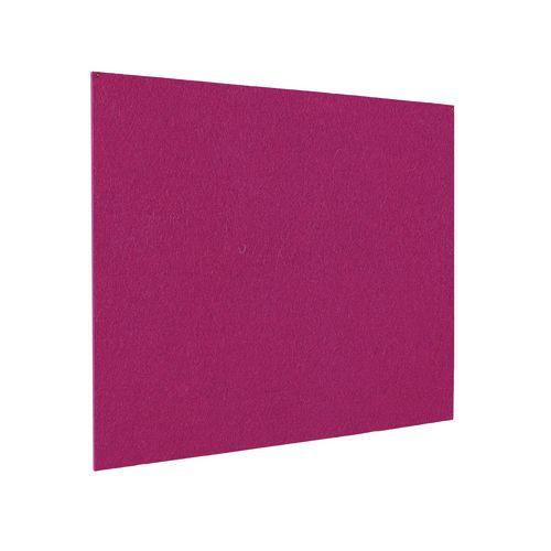 Frameless Colourplus Fabric Noticeboards 900x1200mm (Hxw) Magenta