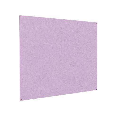 Frameless Colourplus Fabric Noticeboards 900x1200mm (Hxw) Lilac