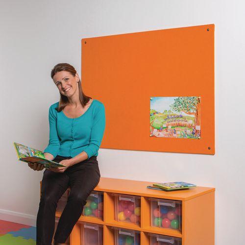 Frameless Colourplus Fabric Noticeboards 900x1200mm (Hxw) Orange