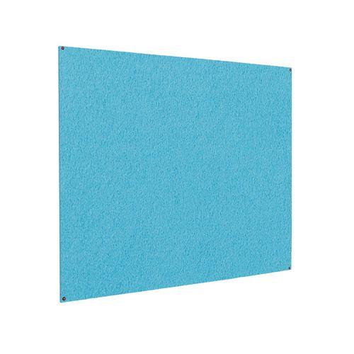 Frameless Colourplus Fabric Noticeboards 900x1200mm (Hxw) Cyan