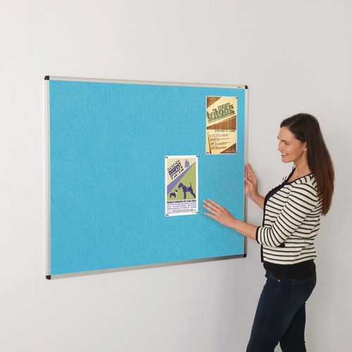Colourplus Fabric Noticeboards 900x1200mm (Hxw) Cyan