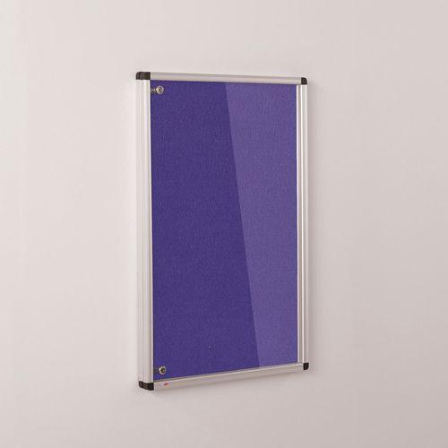 Colourplus Fabric Tamperproof Noticeboards 900x900mm (Hxw) Purple