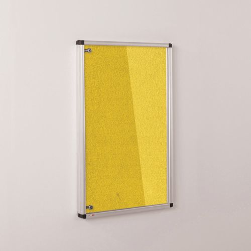 Colourplus Fabric Tamperproof Noticeboards 900x1200mm (Hxw) Yellow