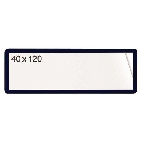 Self-Adhesive Ticket Pouch 40X120 Pk 100  Black