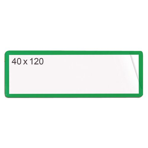 Self-Adhesive Ticket Pouch 40X120 Pk 100  Green