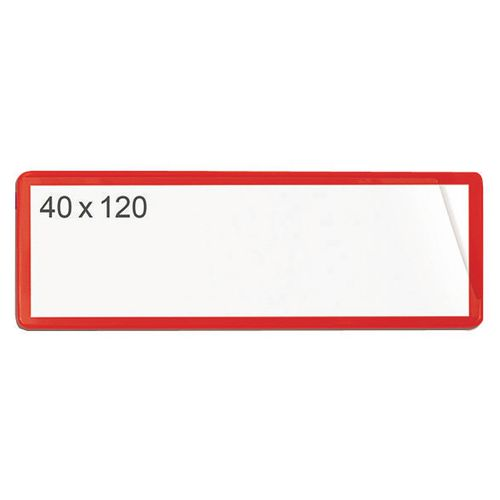 Self-Adhesive Ticket Pouch 40X120 Pk 100  Red