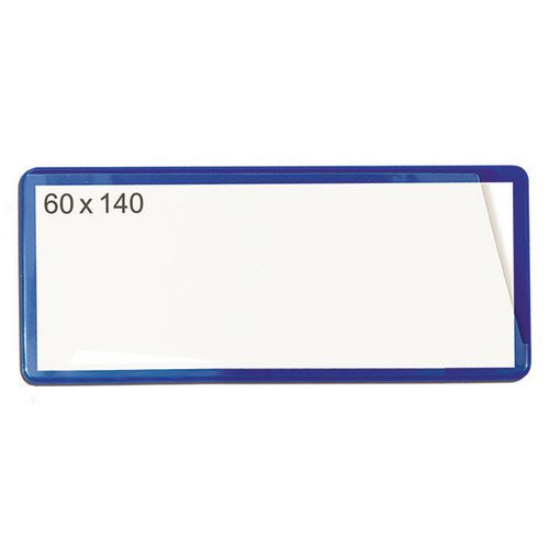 Self-Adhesive Ticket Pouch 60X140 Pk 100  Blue