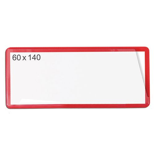 Self-Adhesive Ticket Pouch 60X140 Pk 100  Red