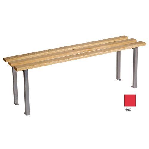 Classic Mezzo Bench 2000x325mm 3 Legs Red