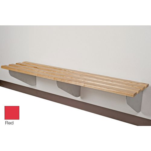 Classic Aero Bench 2000x450mm 3 Brackets Red