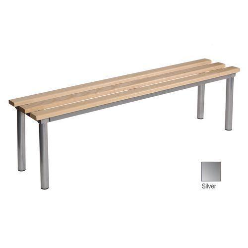 Club Mezzo Freestanding Bench Silver 1500 Widex325mm Deep