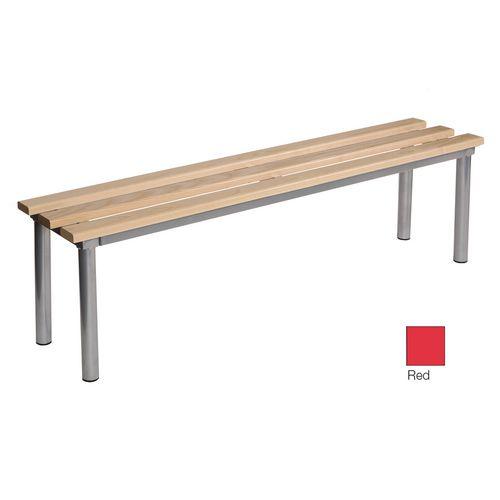 Club Mezzo Freestanding Bench Red 1500 Widex325mm Deep