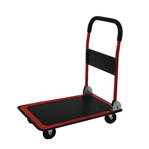 Folding Platform Truck 730x480mm With Pp Wheels And Comfort Hand Grip. Metalwork Red With Black Mat B