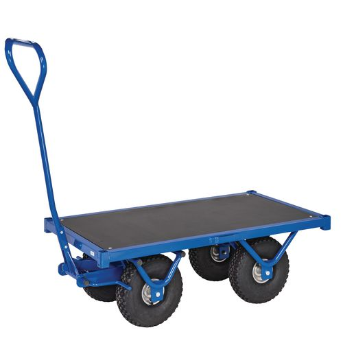 Heavy Duty Braked Turntable Truck 1200mm Long