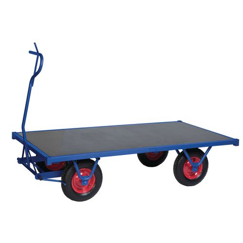 Heavy Duty Braked Turntable Truck 3000mm Long