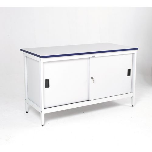 Contract Mailroom Bench 1500mm Long With Cupboard