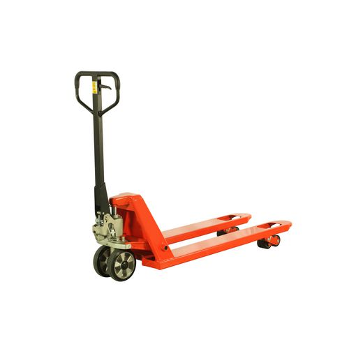 2500Kg Pallet Truck With Rubber Front Wheels &Tandem Polyurethane Rear Rollers
