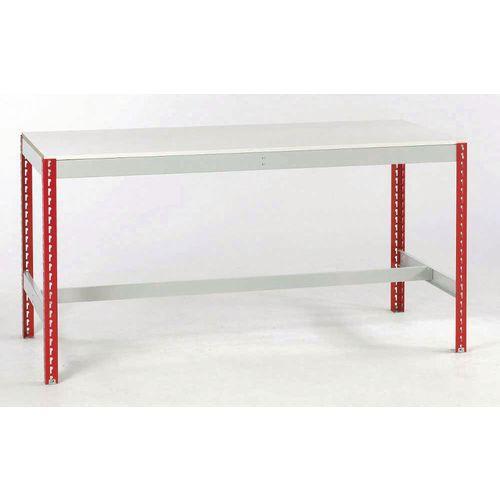 Bench 2400x750 Melamine Top And No Bottom Shelf