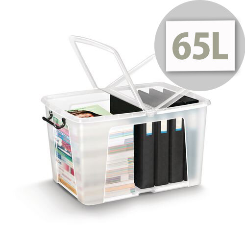 Smart Storemaster Box 65 Litre With Folding Lid And Clip Handles