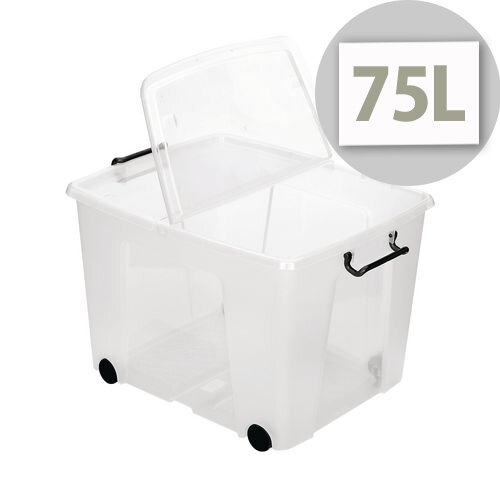 Smart Storemaster Box With Folding Lid And Clip Handles 75 Litre