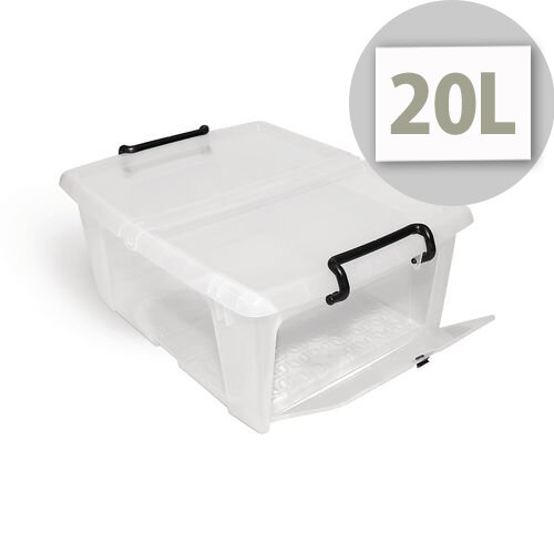 Smart Storemaster Box 20 Litre With Side Opening And Clip Handles