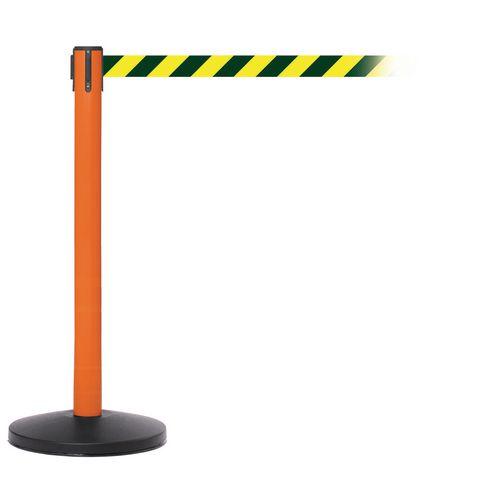 Safetymaster 450 Orange Post 3.4M Orange/Black Diagonal Belt Web Pack2