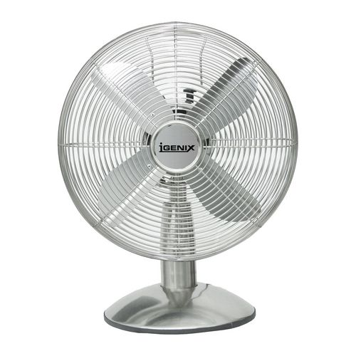 12 Inch Retro Desk Fan Chrome
