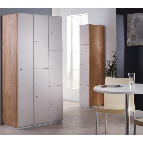 Executive Laminate Door Locker 1800x300x450 2 Compartment Kashmir Doors