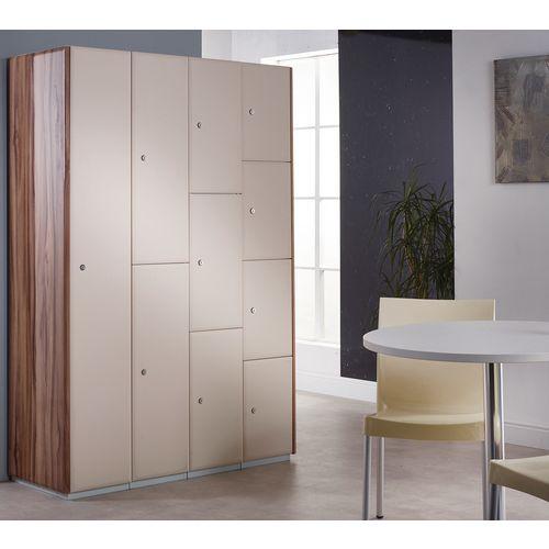 Executive Laminate Door Locker 1800x300x450 2 Compartment Sand Beige Doors