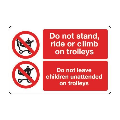 Sign Do Not Stand Ride Or 300x200 Vinyl