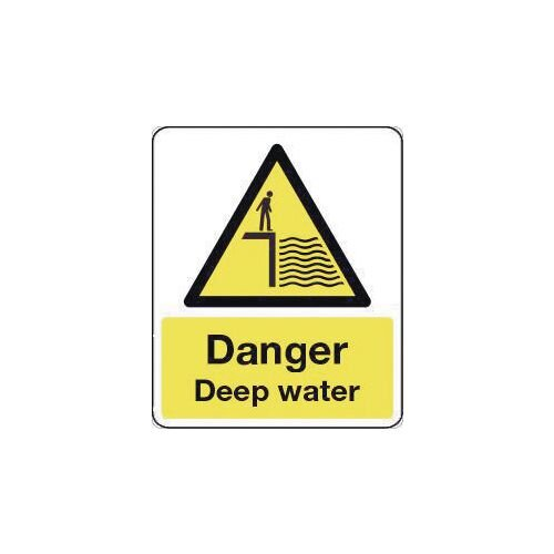 Sign Danger Deep Water 600X200 Vinyl National Water Safety Sign