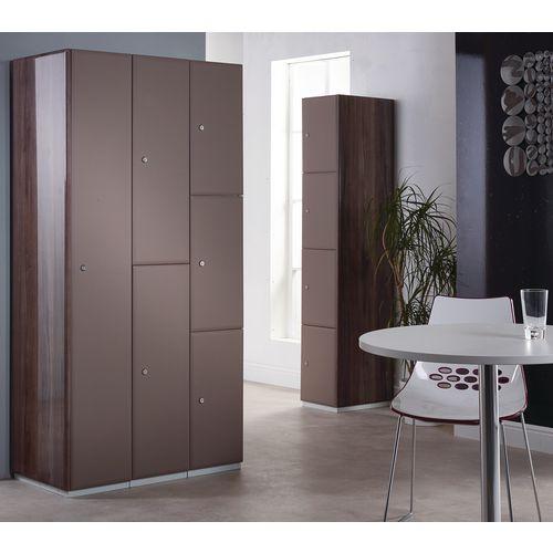 Executive Laminate Door Locker 1800x380x380 2 Compartment Grey-Brown Doors