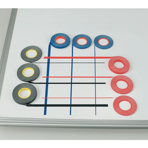 Whiteboard Gridding Tape 1.5mm Red