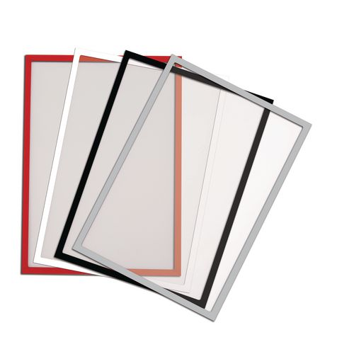 A4 Magnetic Clear Pockets Pack Of 10 Red