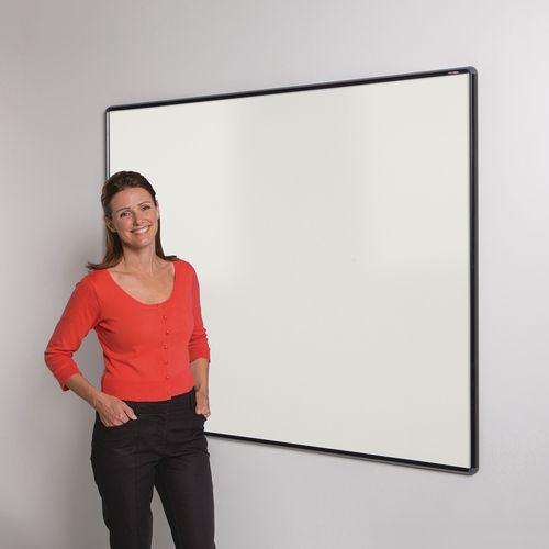 Shield Design Magnetic Whiteboard 1200X1200 Black Frame