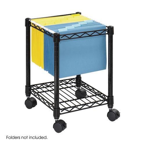 Wire Under Desk Mobile File Cart (Foolscap) Black (Bl)
