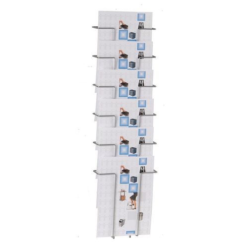 Twinco Wall Mounted A4 Literature Holder 6 Compartments Silver