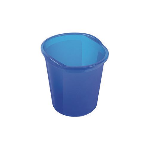 13 Litre Plastic Wastebasket In Blue